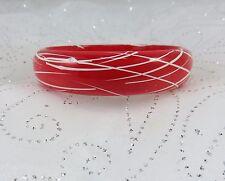 Vintage Estate Red and White Bangle Bracelet