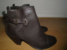 Dark brown ankle boots, MARKS AND SPENCER (INSOLIA), UK size 4.5, NEW with Label