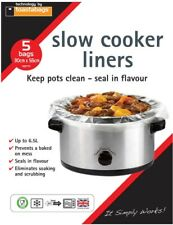 Liners For Slow Cooker Crock Pot Pack 10 Bag No Mess Seal In Flavour Cooking Ova