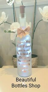 LED  Light Up Bottle Personalised Gift For a Best Friend