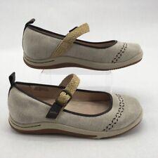 Jambu Womens Rosie Eco Mary Jane Shoes Beige Adjustable Buckle Jute Strap 8 M