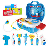 27 in 1 Kids Doctor Nurse Dress Toy Set Medical Role Pretend Play Carry Box