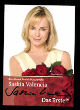 Saskia Valencia Rote Rosen  Autogrammkarte Original Signiert # BC 83356