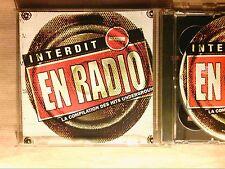 BOITIER CD + DVD / INTERDIT EN RADIO / HITS UNDERGROUND / TRES BON ETAT