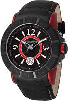Stuhrling Gen-X 543 Men's 50mm Swiss Quartz Buffalo Leather Watch 543.332TT564