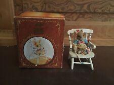 1995 Enesco Priscilla Hillman Little Jack Horner Mouse Tales Figurine with Box