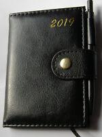 ۞ 2019 TaschenKalender Jahres Termin Planer Organizer mit Kugelschreiber ۞11x8cm