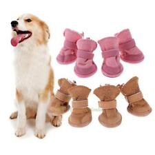 4pc Winter Warm Dog Boots Anti-Slip Puppy Shoes Pet Dog Protective Snow Booties