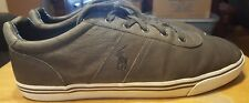 Ralph Lauren sneakers gray size 16-D mens western leather laces hanford
