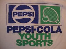 Vintage Pepsi-Cola Youth Sports Nelta YTF Tennis Paper Thin T Shirt Size S