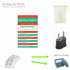 Italian Phrasebook Language and Italy Adapter Set | Going In Style