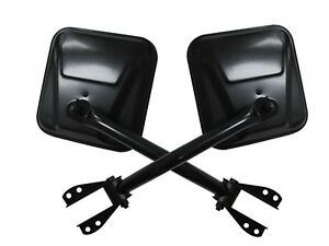 Rampage for 1955-1983 Jeep CJ5 Side Mirrors - Black - for ram7617