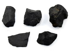 100g Black Shungite Rough Natural Mineral Water Cleaning Stone - Russia (5PCS)
