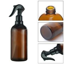 Amber Plastic Spray Bottles Trigger Sprayer Oils Essential Aromatherapy 500ML UK