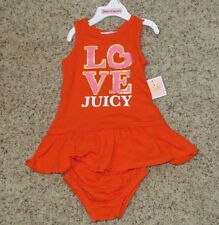 Juicy Couture Baby Girls Sun Dress (with Diaper Cover) - Size 12-18 Months - NWT