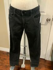 Joe's Jeans Black Dark Wash Straight Leg Jeans, Size 26
