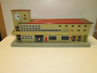alter Märklin Blech Bahnhof 418 Friedrichshafen Länge 35cm Spur H0