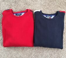 Lot Of 2 VTG Tommy Jeans Tommy Hilfiger Knit Sweaters SZ L Cable Knit Spellout