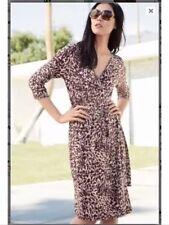 "Bnwt"" Next "" Size 8 Animal Print Ladies Wrap Dress Evening Work Office New"