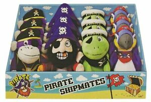 "Pirate Soft Plush Toy PIRATE , PARROT, MONKEY, TURTLE,10"" Tall select from menu"