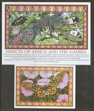 Gambia SC # 2763a-f and 2764 Insects Of Africa And The Gambia .  MNH