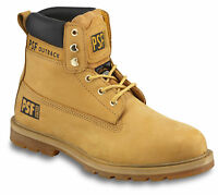 MENS PSF OUTBACK LEATHER STEEL TOE CAP MIDSOLE SAFETY WORK HIKER MIDCUT BOOTS