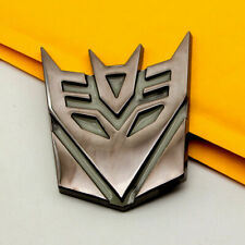 """3D Transformers Decepticon Logo 4"""" Matte Finish Aluminum Emblem Badge Decals Car"""