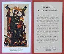 Santino Holy Card: Maria Santissima di Montevergine - Ed. EGIM 130