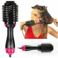 3In1 One Step Hair Dryer&Volumizer Brush Straightening Curler Iron Comb Styling