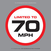 SKU1119 - LIMITED TO 70 MPH Vehicle Speed Restriction Sticker Vinyl Car Van 80mm