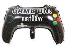 "Game on controller Birthday foil balloon 64cm x 38cm  24"" x 25.5"""
