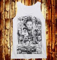 Mix All Rapper Ice Cube Eminem 2PAC Snoop Dogg Hip Hop MEN Women Tank Vest Top