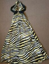 Ladies Morgan & CO sexy black, white and yellow long prom / ball dress size 10