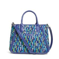 Vera Bradley Trapeze Satchel Bag KATALINA SHOWERS Navy 14598-296951