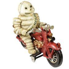 Michelin Man Motorcycle Motorbike Bike Mascot Figure Statue Bibendum Cast Iro