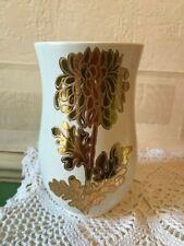 Vintage Crown Devon Vase Mould 1466 Gold / Gilded Flower Made in England