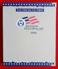 OFFICIAL US MINT COIN ALBUM FOR KENNEDY HALF DOLLARS 1988-2004 - NEW