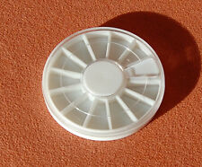 5 x Rondell Leer Sortierbox 6 cm für Nail Art
