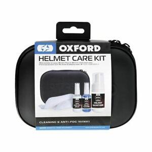 Oxford Motorcycle Bike Helmet Care Kit Anti-Fog Visor Spray Cleaner New
