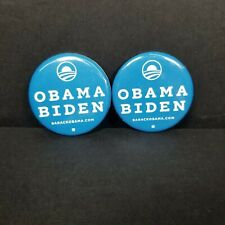 2 Official 2008 Obama Biden Presidential Campaign Election Political Pin Buttons