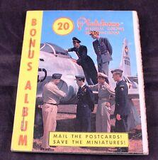 """Vintage 3"""" Mini Postcard Plastichrome Color Picture Album USAF Air Force"""