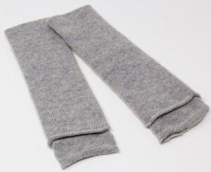 Hush Grey Marl Cashmere Wristwarmers