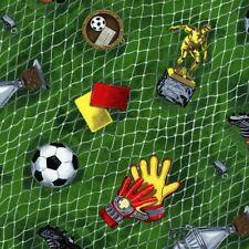 Goal Soccer Ball Equipment Gloves Net Red Yellow Card Green Quilt Cotton Fabric