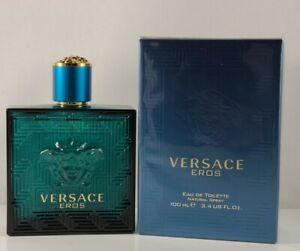 Versace Eros 100ml 3.4 Oz Eau de Toilette Spray Brand New Sealed Box Men