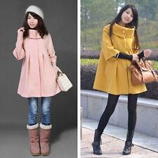 Fashion Korean Ladies winter cashmere wool coat jacket Cape shawl winter coat