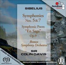 Colin Davis, J. Sibe - Symphonies 5 & 7 / Symphonic Poem en Saga Op.9 [New SACD]