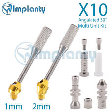 10 Angular 30° Multi Unit Abutment Dental Internal Hex 2.42mm Titanium Kit
