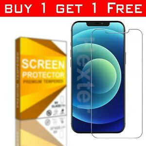 Tempered Glass Screen Protector For iPhone 12 Mini, 12 Pro, 11, 11 Pro Max XR Xs