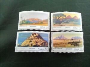 SET OF 4 MNH STAMPS OF SOUTH WEST AFRICA 1982 MOUNTAINS MULTICOLOURED.