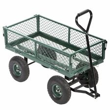 New Garden Carts Wagons Heavy Duty Utility Outdoor Steel Beach Lawn Yard Buggy
